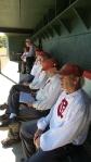 Getting Ready to bat at Arlington.